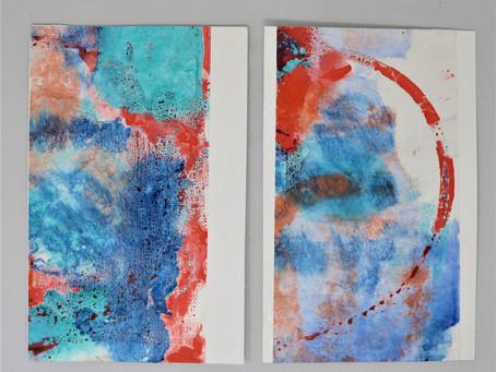 dance with warm wax: encaustic monoprints