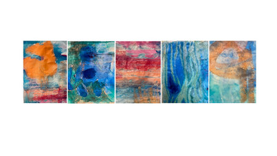 Encaustic and Ink monotype