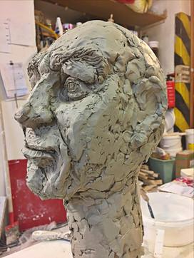 """""""Beton Bob"""" in clay, pre-cast"""