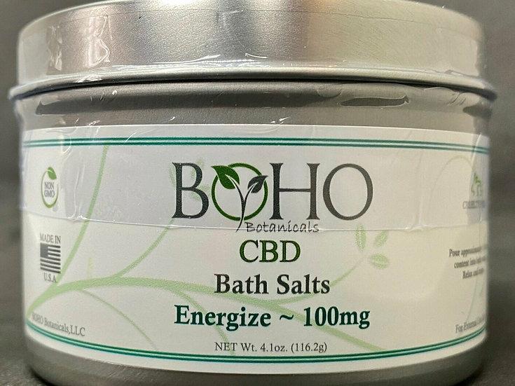 Bath Salts - 100mg - 8oz. metal tin - ENERGIZE