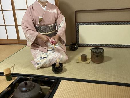 春日井市 茶道教室 今日で炉も、、