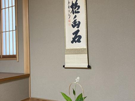 春日井市 茶道教室 室礼と茶花