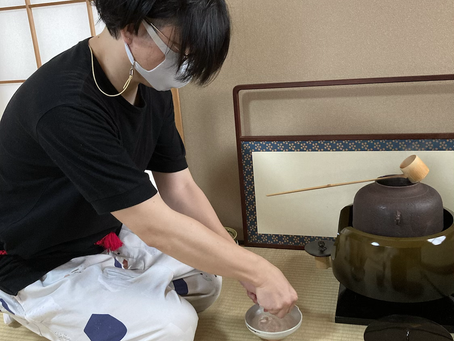 春日井市 茶道教室 洗い茶巾のお稽古