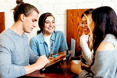 A group of friends at a coffee shop_edit