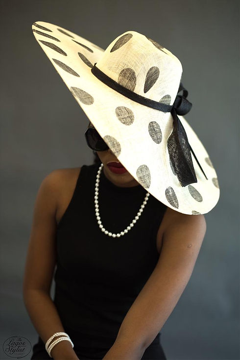 Black and cream polka hat.jpg