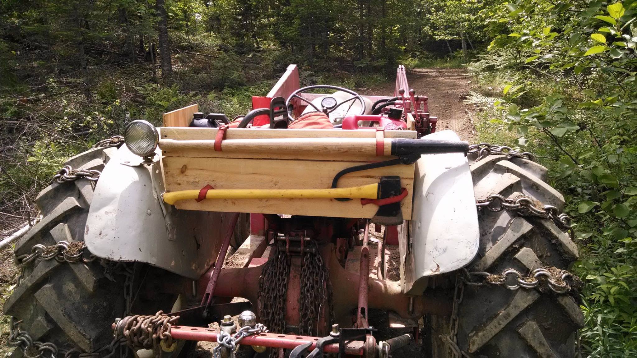 logging tractor