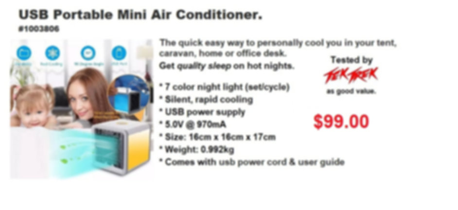 #1003806 USB Portable Mini Air Condition