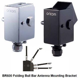 BR600 Folding Bull Bar Antenna Mounting