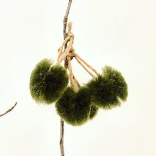 Green Willow Merino Velvet Tree Decorations