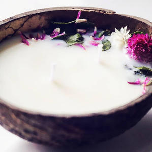 All Natural Soy Coconut Shell Candle