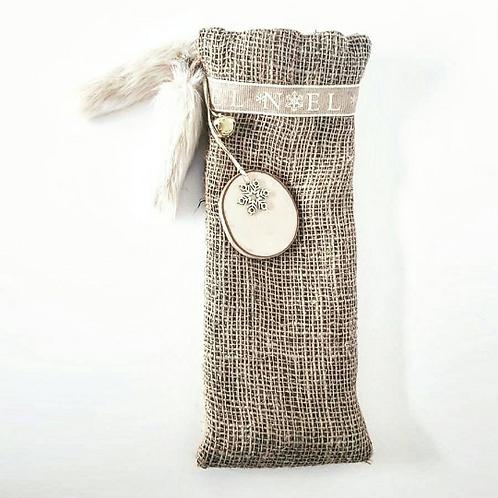 Cream Noel Luxury Handmade Bottle Bag