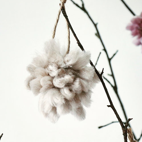 Little Bloomers Tree Decoration - Set of 4 Pearl Dust