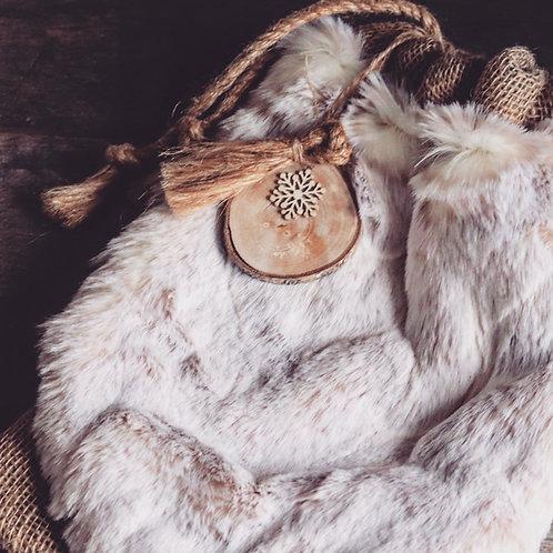 Snowfall Christmas Eve Luxury Gift Sack