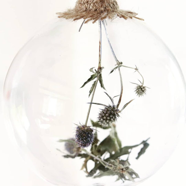 Sea Holly Glass Bauble