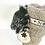 Thumbnail: A gorgeous pair of Black and Cream Noel Bottle Bag
