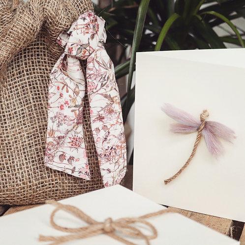 Pink garden Gift Bag & Greeting Card