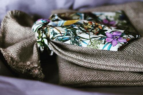 Lilac Cottage linen Bottle Gift Bag