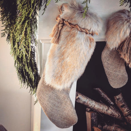 Golden Brown Luxury Christmas Stocking
