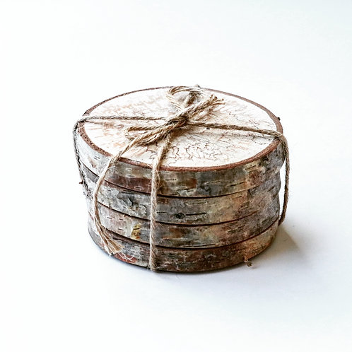 Sliced Log Coasters - Set of 4