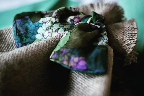 Enchanted Garden Linen Gift Bag