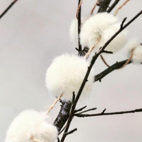 Natural Snowball Garland