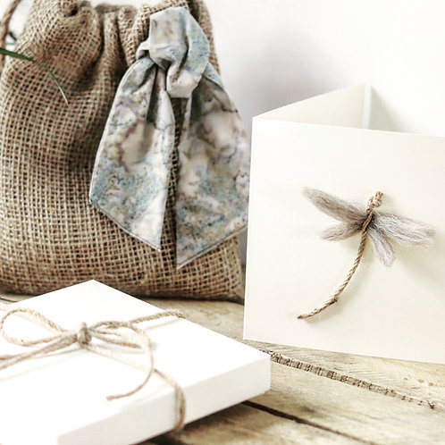 Blue Batik Gift Bag & Greeting Card