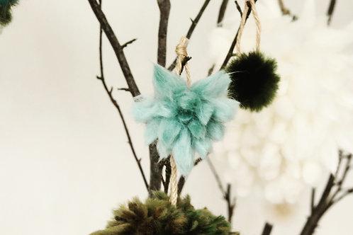 Star Flower Tree Decoration - Set of 4 Teal