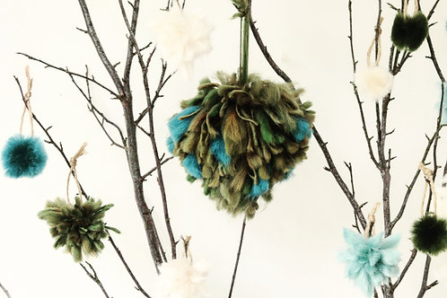 Blue Wild Green Tree Decoration - Large