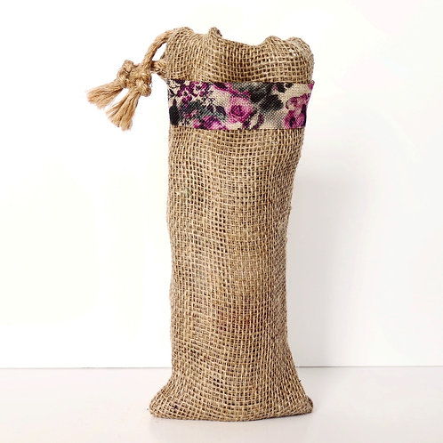 Purple Rose Bottle Gift Bag
