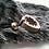 Thumbnail: Black Snow Tip Faux Fur  Hessian Mini Gift Sack