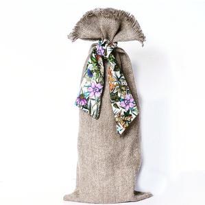 Lilac Cottage Linen Bottle Bag