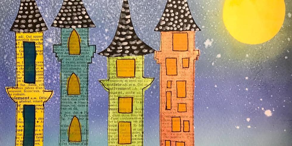 """'Ma maison paysage"""", atelier de Journal Créatif en ligne"""