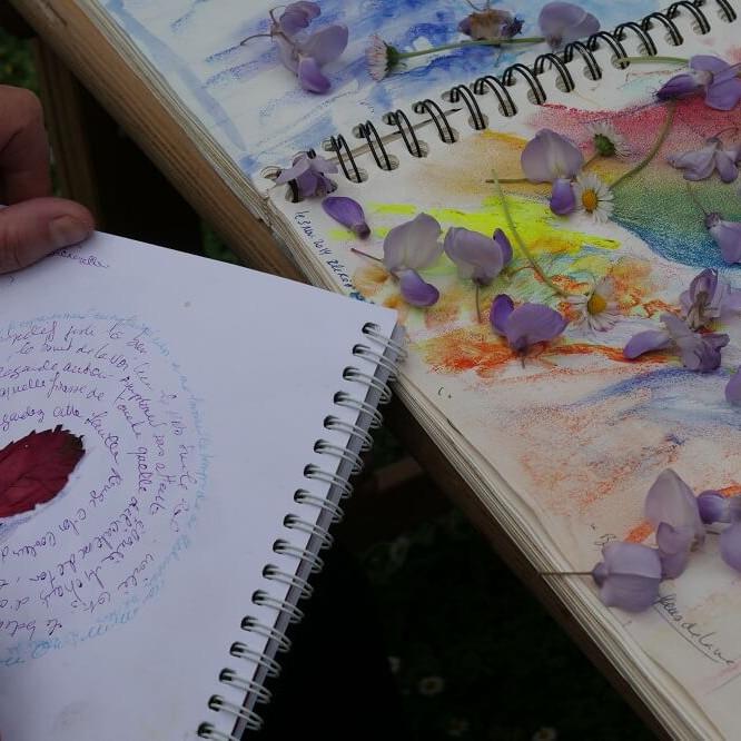 Carnet de voyage d'automne, marche et créativité.