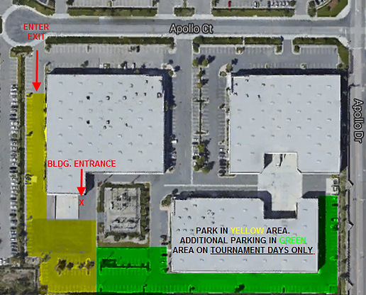 AIM Sportsplex parking map