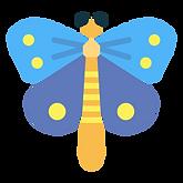 En tecknad fjäril