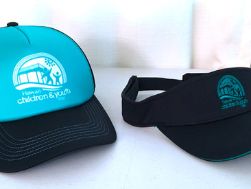 Trucker Hats and Quick-Dry Visors for Hawaii Children and Youth Day.