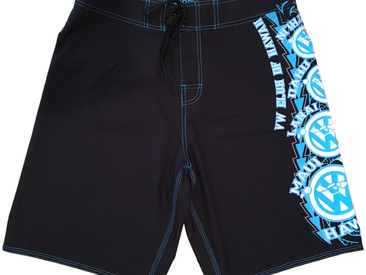 Custom 4-Way Stretch Men's Boardshorts for VW Club of Hawaii.