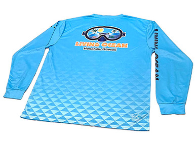 Custom Quick-Dry Long Sleeve T-Shirts for Living Ocean Scuba.