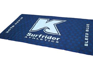 Custom Microfiber Suede Towels for Kailua High School.