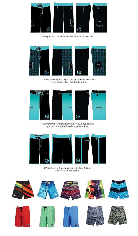 Custom 4-Way Stretch Men's Boardshorts, Custom Boardshorts