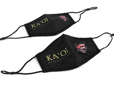 Custom Face Masks for Ka'oi Soccer Club.