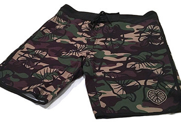 Custom Camo Boardshorts for Kalo Kini Swimwear.