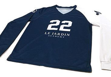 Custom Volleyball Jerseys for Le Jardin Academy.