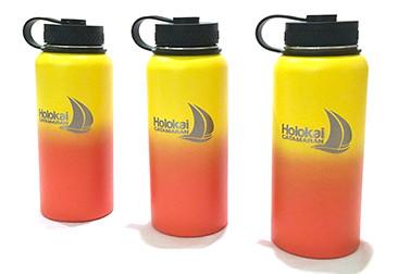 Custom Ombre Flasks for Holokai Catamaran in Waikiki Hawaii.