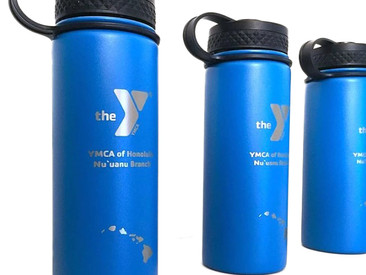 Custom Vacuum Sealed Double Wall Flasks for the YMCA.