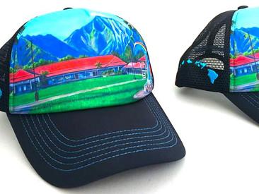 Custom Trucker Hats for Hanalei Elementary School.