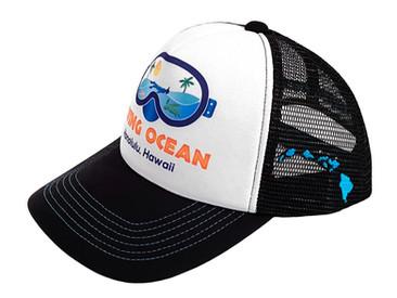 Custom Trucker Hats for Living Ocean Scuba.