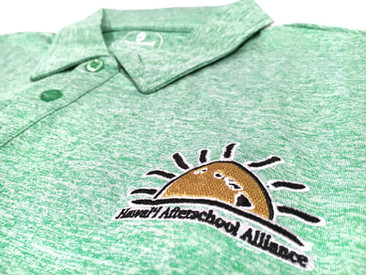 Custom Polos for Hawaii Afterschool Alliance.