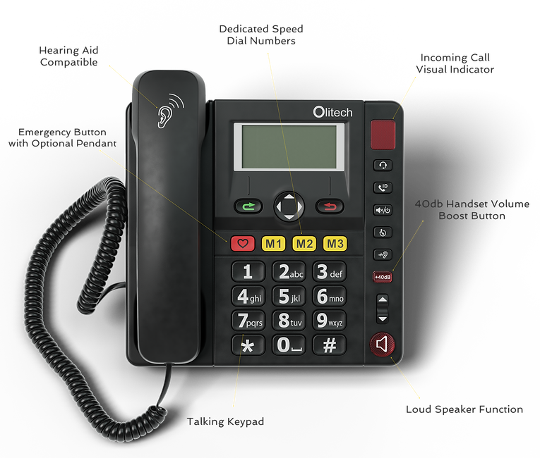 Olitech EasyTel keypad configuration