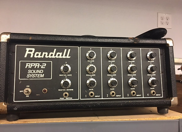 MUSIC RANDALL MIXING BOARD